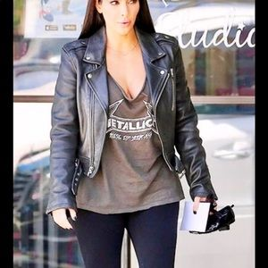Rachel Roy Learher moto jacket